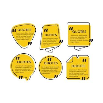 Impostare il modello di sfondo delle citazioni.