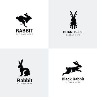 Set di loghi di coniglio