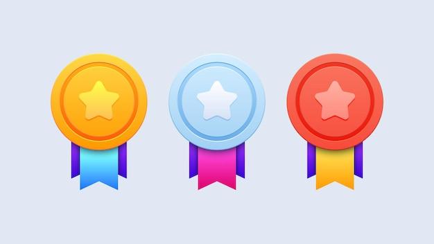 Set di icone distintivo di rango