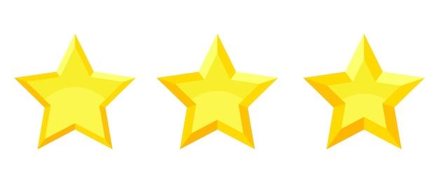 Set di voto stelle voto isolato su bianco