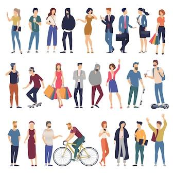 Set di personaggi pronti per l'animazione di persone