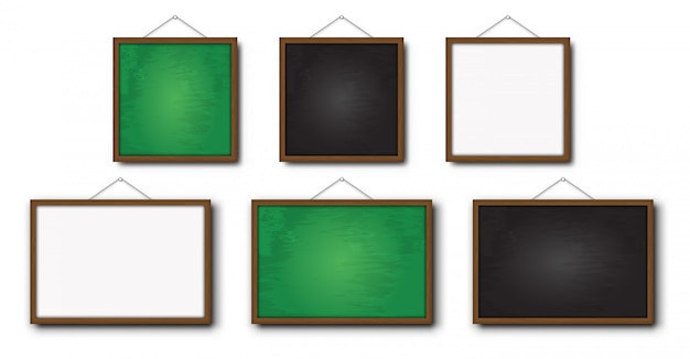 Set di lavagna realistica