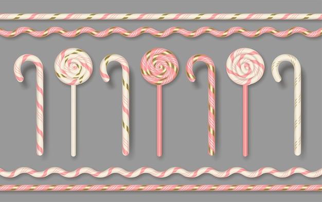 Set di bastoncino di zucchero realistico