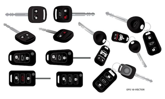 Set di chiavi per auto realistiche con sistema di allarme o chiave per auto con telecomando o telecomando per auto sicuro