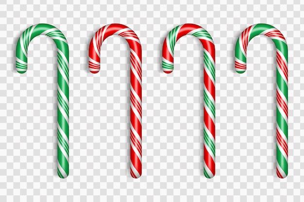 Set di caramelle natalizie realistiche