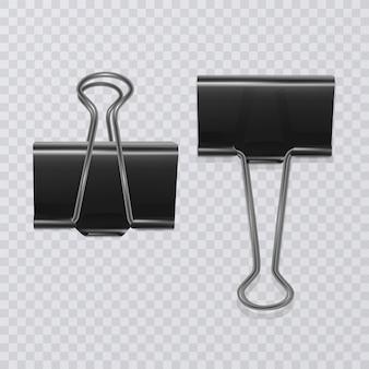 Set di clip di documento realistico isolato