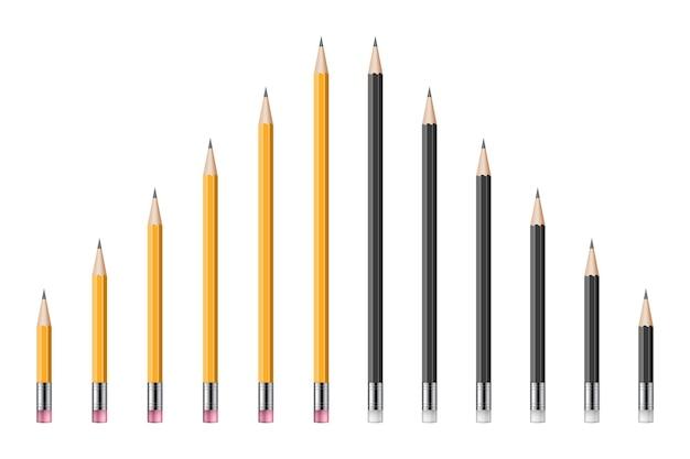 Set di realistiche matite illustrazione