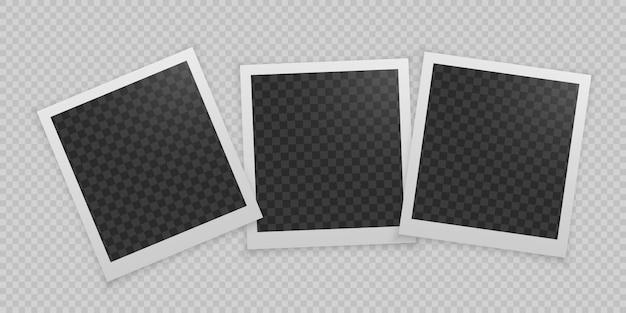 Set di cornice per foto realistiche.