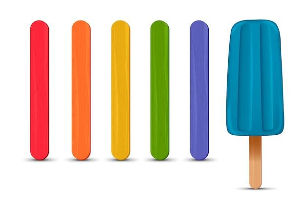 Set di bastoncini di ghiaccioli realistici