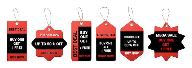 Set di cartellino del prezzo realistico
