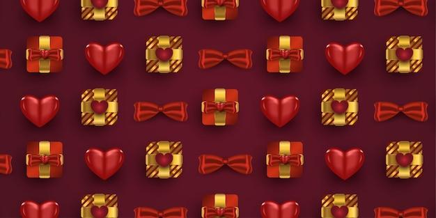 Set di decorazioni romantiche realistiche
