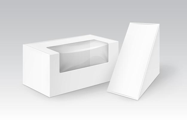 Set di scatole triangolari rettangolari di imballaggio per alimenti