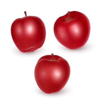 Set di mele rosse