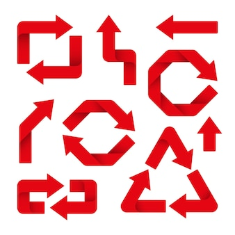 Set di frecce rosse