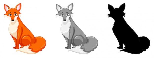 Set di caratteri volpe rossa
