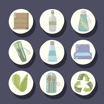 Set di oggetti riutilizzabili