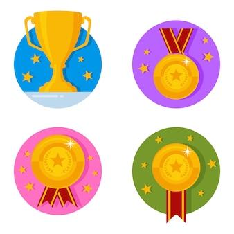 Set di icone di ricompense