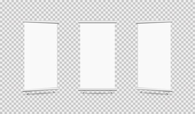 Set di roll up su sfondo trasparente