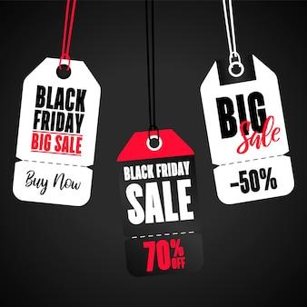 Set di tag banner vendita. banner di grande vendita
