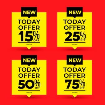 Set di banner di vendita e offerta speciale