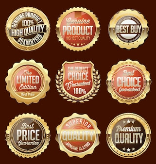 Set di adesivi e distintivi di vendita