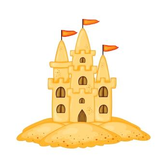 Set di castelli di sabbia di diverse forme
