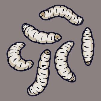 Set di vermi spaventosi per il design di halloween