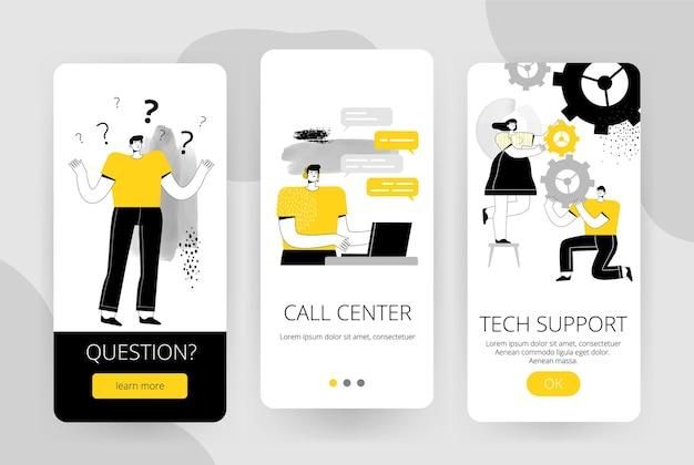 Set di schermi per un'applicazione mobile