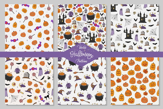 Set di modelli di halloween senza soluzione di continuità