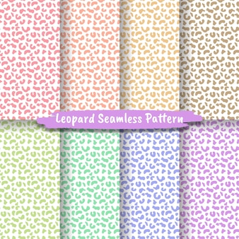 Set di texture pelle animale senza cuciture leopard cheetah jaguar tiger