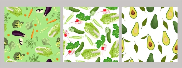 Set di modelli senza giunture di verdure