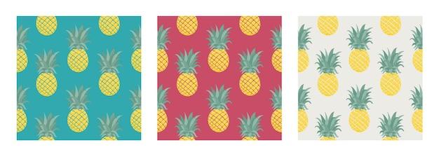 Insieme del reticolo tropicale di vettore senza soluzione di continuità con l'ananas