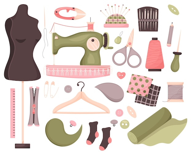 Set di strumenti per cucire.