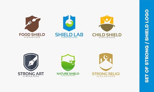 Set di scudo logo