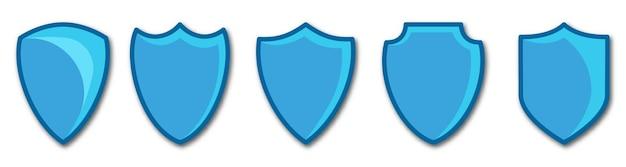 Imposta l'illustrazione vettoriale dello scudo