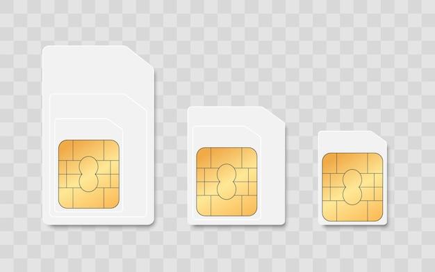 Set di carte sim per la comunicazione mobile