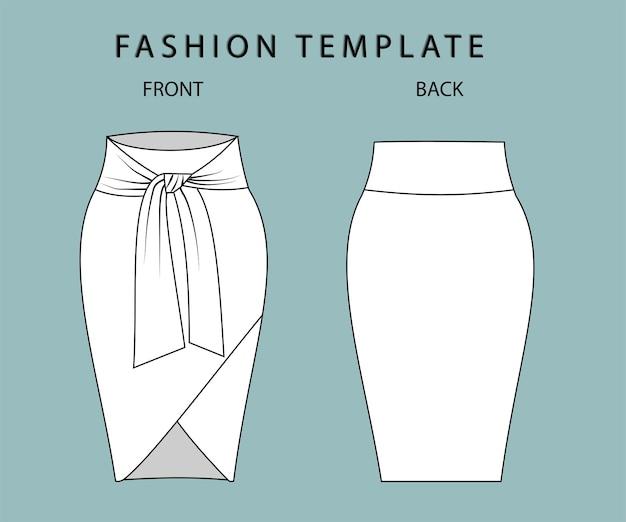 Impostare la vista anteriore e posteriore della gonna