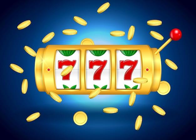 Set di slot machine golden casino o golden lucky jackpot macchina da gioco
