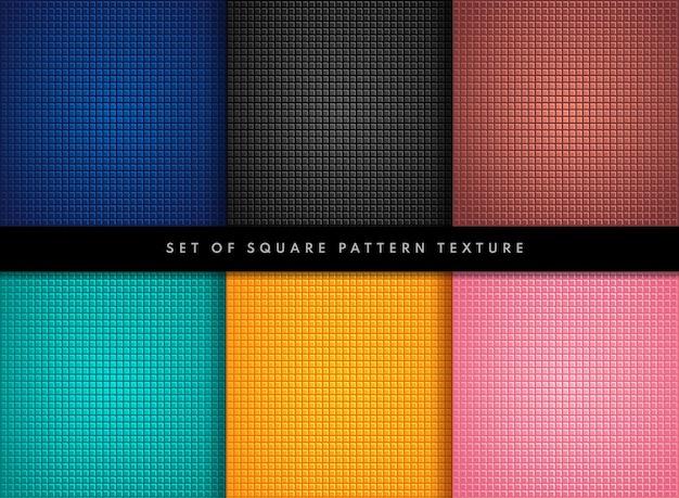 Set di design colorato piccolo motivo quadrato