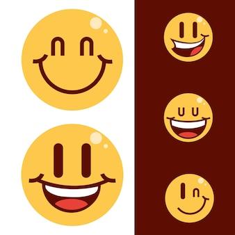 Set di emoticon sorridenti