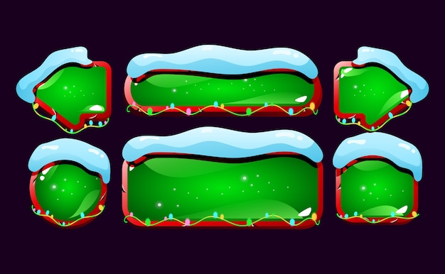 Set di pulsante gui nevoso e lucido