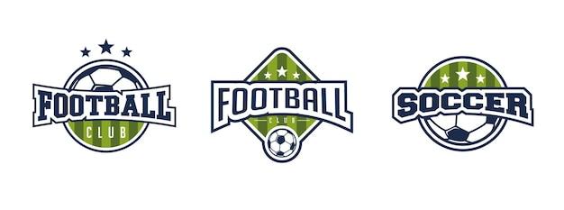 Set di distintivo di calcio di calcio.