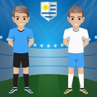 Set di sostenitori di calcio / calcio / fan della squadra nazionale uruguay