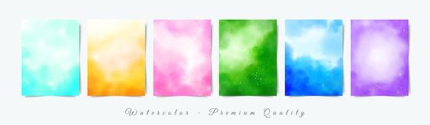 Set di modello acquerello luminoso morbido