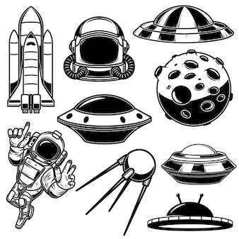 Insieme di elementi di design dello spazio