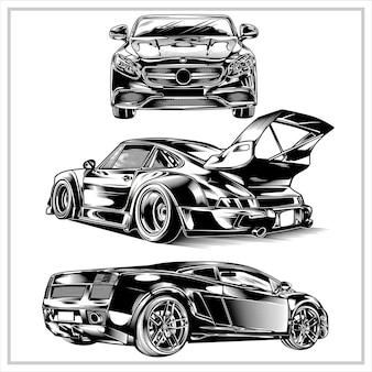 Imposta velocità cars illustration graphic