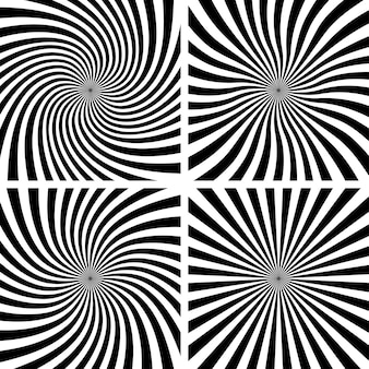 Set di sfondi a spirale.