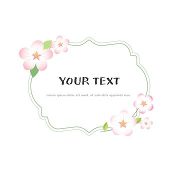 Set di cornici di fiori di primavera