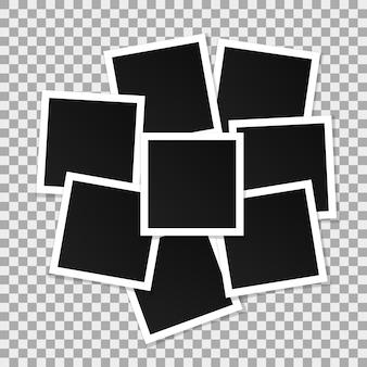 Set di cornici quadrate vettoriale.