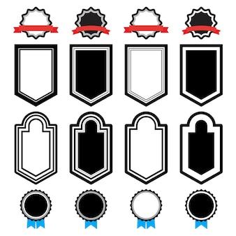 Set di adesivi su sfondo bianco. illustrazione vettoriale.